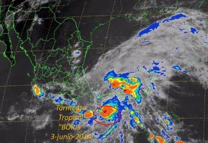 'Boris' ocasionará lluvias desde el Valle de México hasta el sureste mexicano. (Milenio)