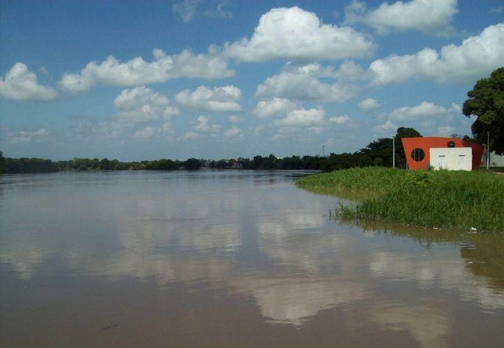 El río se encuentra tres niveles debajo de su nivel crítico. (tenosique.gob.mx)