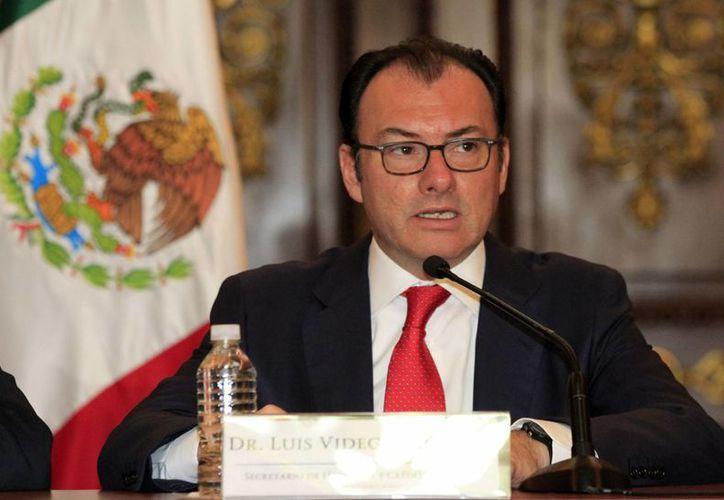 El titular de la SHCP, Luis Videgaray Caso, entregará el 7 de septiembre el paquete económico 2017 al Congreso. (Archivo/Notimex)
