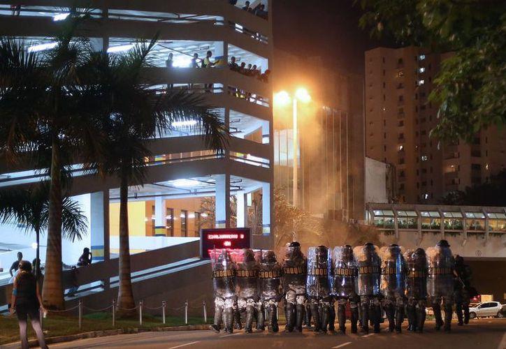 La movilización en la ciudad de Salvador, Brasil. (Agencias)