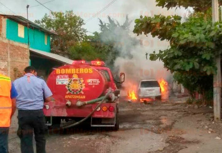 El automotor quedó afectado completamente. (Foto: Mi Morelia)