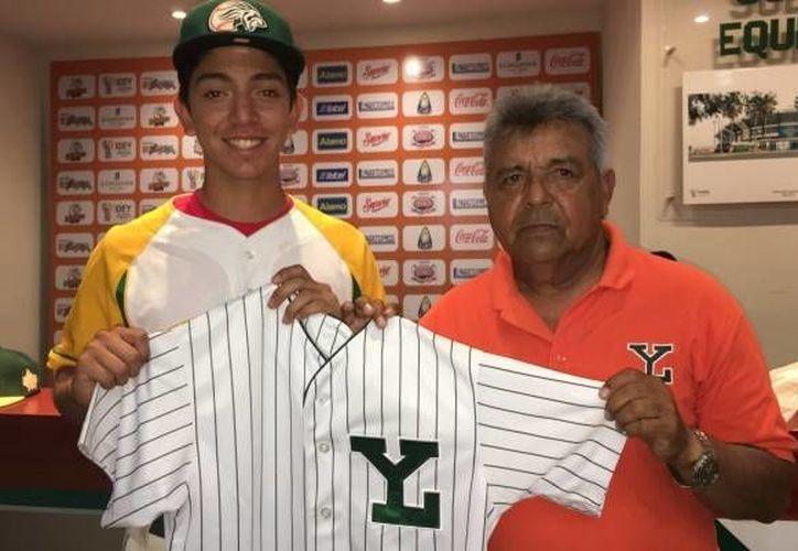 Rudy Parra es un infielder de 1.82 metros de altura y 66 kilos, con 15 años de edad. (Foto tomada de leones.mx)