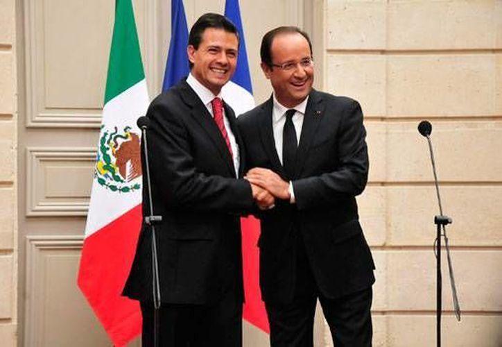 La reunión de FrancoisHollande y Enrique Peña Nieto será en la Ciudad de México. (Archivo/Notimex)