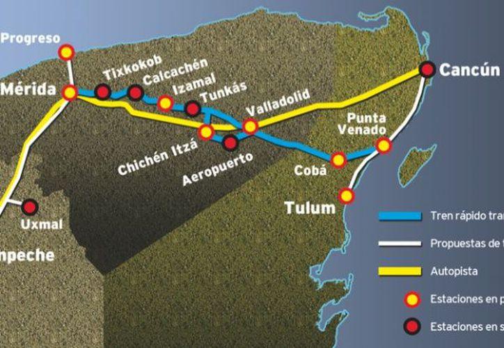 Falta por definir el proyecto original del Tren Transpeninsular que considera llegar hasta Yucatán. (Enrique Mena/SIPSE)
