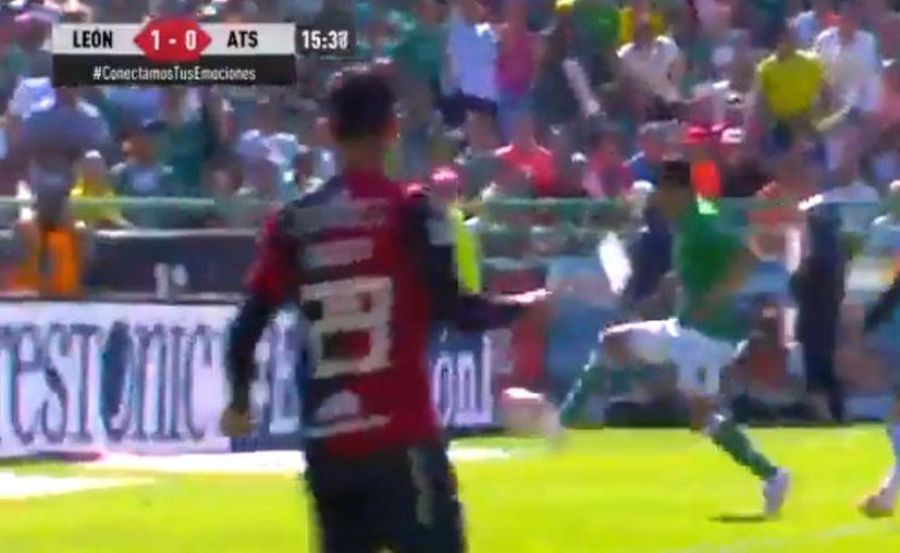 Con un pase de gol de Sambueza a Angel Mena se abrió el marcador (Captura de pantalla)