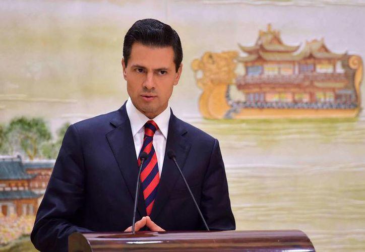 Peña Nieto llegó a México a las 22:30 horas aproximadamente. (Presidencia)
