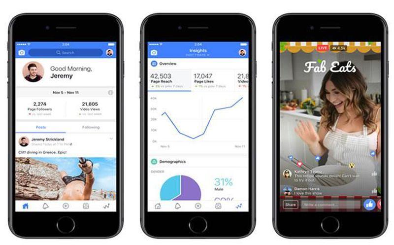 Usuarios de Facebook tendrán nueva app para hacer videos