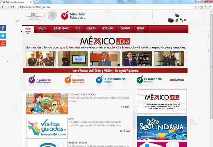 Imagen del portal donde la red Edusat podrá en la web sus contenidos. (Sipse.com)