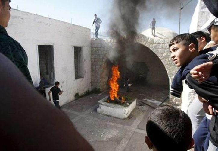 La tumba de José es un lugar venerado por los judíos en Naplusa, en el norte de Cisjordania. (Reuters)