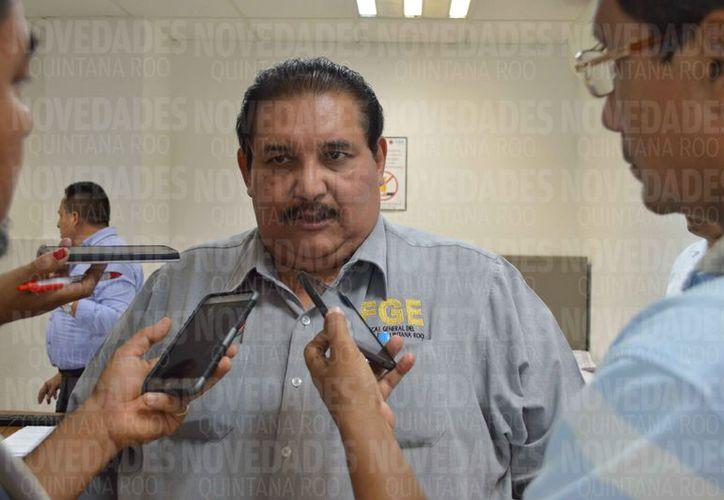 Miguel Ángel Pech Cen fue entrevistado en las instalaciones de la Fiscalía en la Zona Norte. (Eric Galindo/SIPSE)