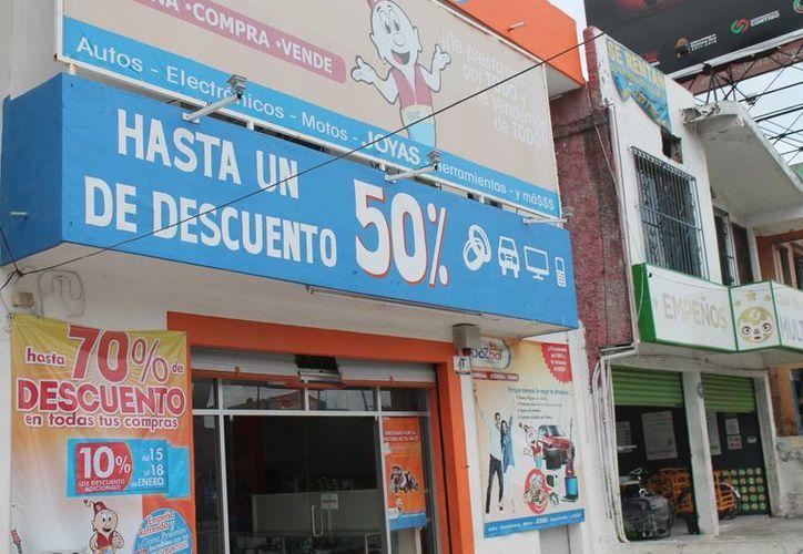 Existe un padrón de 65 casas de empeño establecidas en Benito Juárez. (Hugo Zúñiga/SIPSE)
