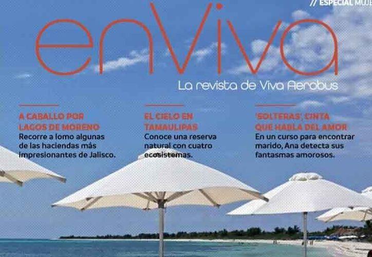 La revista En Viva es editada por la línea aérea Viva Aerobús. (Gustavo Villegas/SIPSE)
