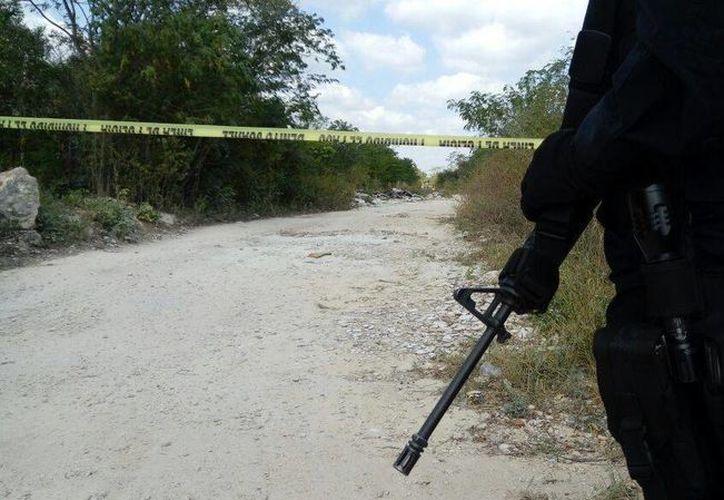Los elementos policíacos iniciaron con las averiguaciones correspondientes. (Eric Galindo/SIPSE)
