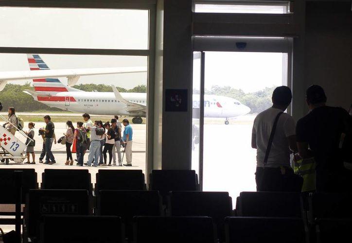 A las 00:50 horas del pasado lunes el vuelo 6157 Boeing 767 de Condor Flugdienst despegó del Aeropuerto Internacional de Cancún. (Redacción/SIPSE)