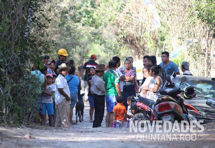 El desalojo fue parcial, ya que otro terreno que también pertenece al Ejido de Playa del Carmen, todavía se mantiene ocupado. (Octavio Martínez e Israel Leal/SIPSE).