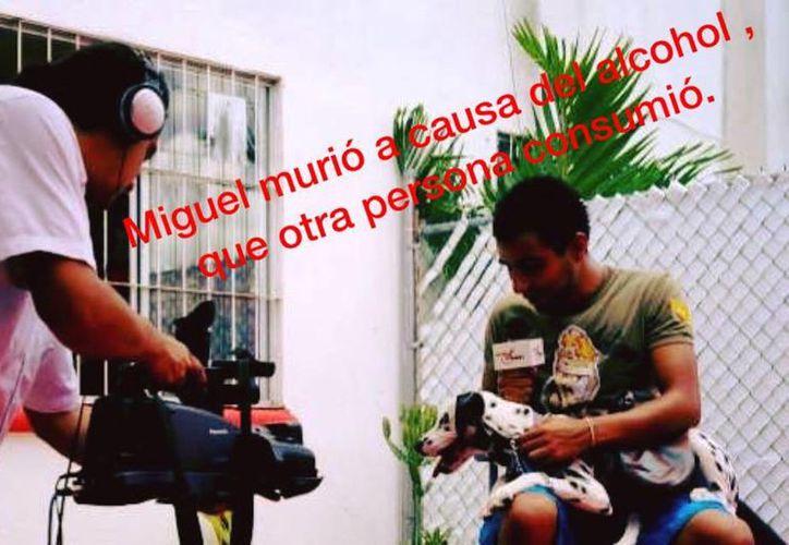 La muerte del camarógrafo Miguel Torres ha motivado una campaña contra el consumo de alcohol antes de conducir. (Facebook/Olaf Navarrete)