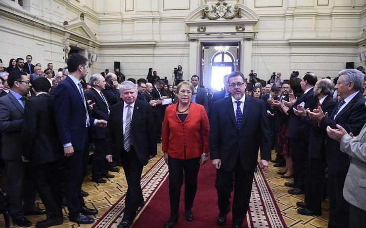Michelle Bachelet reconoció nla responsabilidad del Estado de Chile con las víctimas de la dictadura. (EFE)