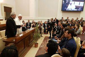 El mundo del futbol se reúne con el Papa Francisco
