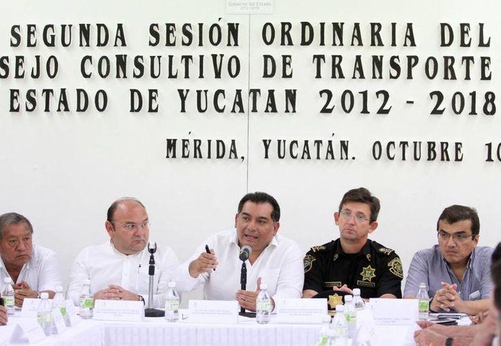 La reunión del Consejo Consultivo del Transporte del Estado. (SIPSE)