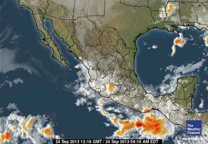 El frente frío número uno, de intensidad débil, que se localiza  en la porción sur del Golfo de México, no afecta las condiciones climáticas en el estado. (espanol.weather.com)