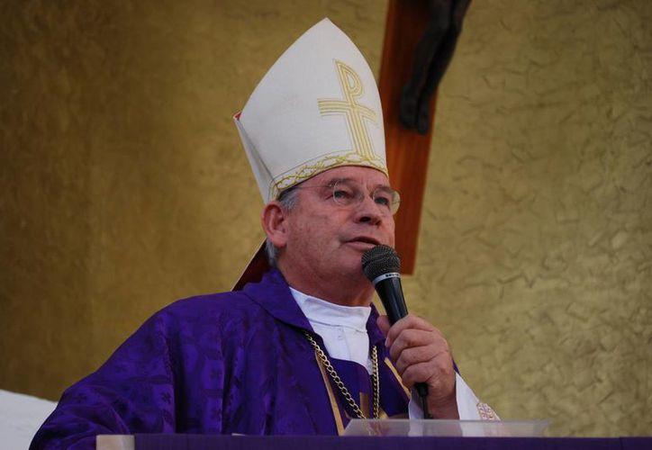 Monseñor solicitó a los medios de comunicación analizar su discurso. (Tomás Álvarez/SIPSE)