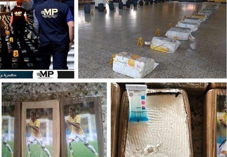 La droga fue contabilizada e incautada por las autoridades correspondientes. (Foto: Twitter @MPguatemala).