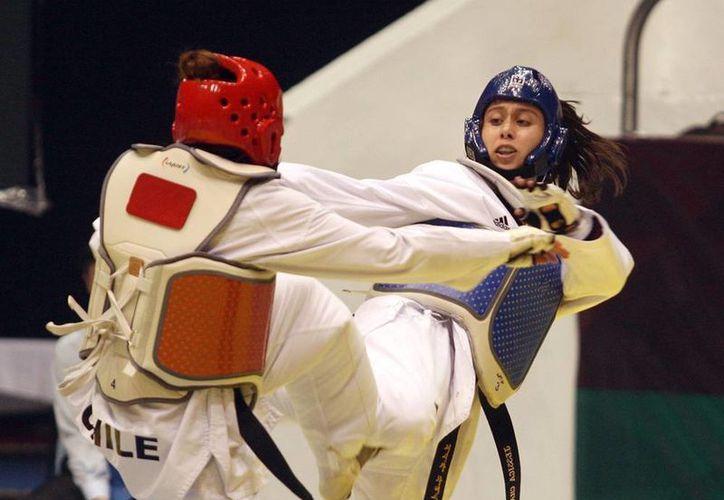 Sin medalla Jessica Chávez se despide del Grand Prix de Taekwondo, en Suzhou, China. (Archivo/conade.gob.mx)