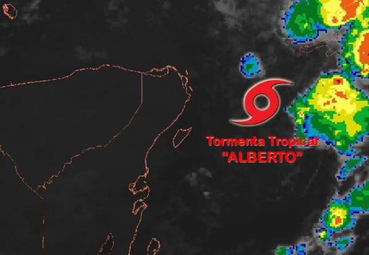 Para hoy se prevén tormentas fuertes a puntuales muy fuertes (50 a 75 mm) en Quintana Roo. (SMN)