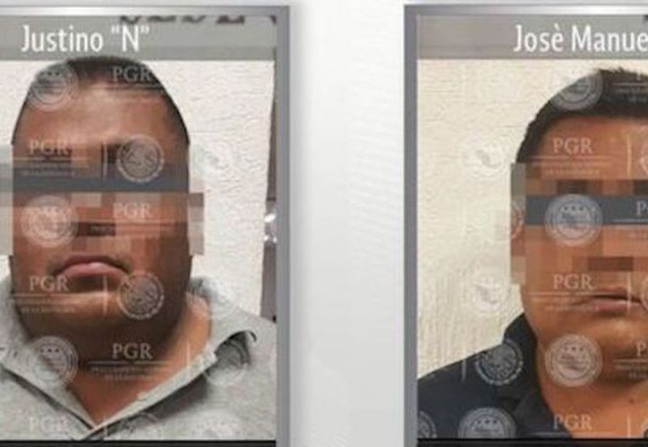 """""""El Justo"""", y José Manuel 'N', su escolta, fueron detenidos ayer por elementos de la PGR en Morelos. (PGR)"""