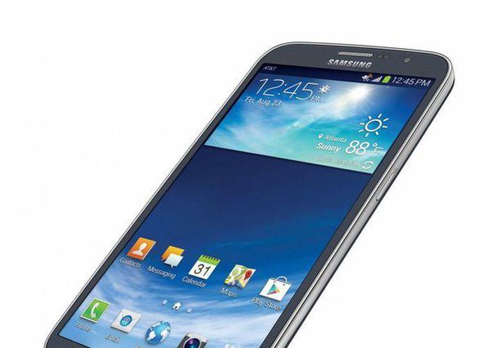El Galaxy Mega mide 16 centímetros en diagonal. (Agencias)