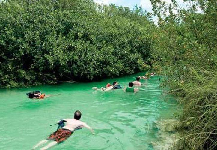 Las áreas protegidas reciben turistas en beneficio de las comunidades. (Israel Leal/SIPSE)