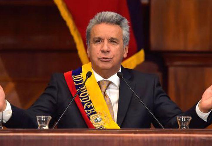 Moreno asumió el poder el 24 de mayo para un período de cuatro años como continuador de la gestión de Correa. (AFP).