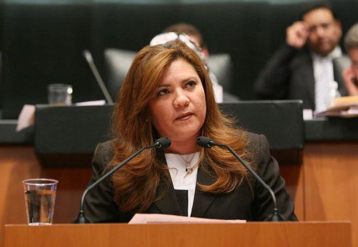 La senadora Rosa Adriana Díaz Lizama es integrante de la Mesa Directiva en la Cámara Alta. (Cortesía)