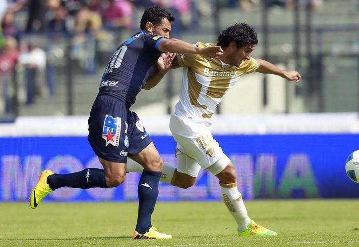 Pumas y Puebla se enfrentaron en juego correspondiente a la primera jornada del Torneo Clausura 2014 de la Liga MX, en el estadio Olímpico Universitario. (Notimex)