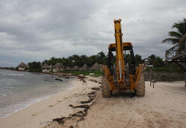 El 15 de enero termina la limpieza de playas llevada a cabo por  Fonatur. (Sara Cauich/SIPSE)