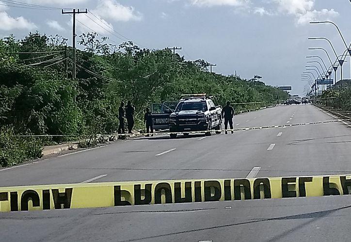 Casi doce horas después del ataque, elementos de la policía municipal encontraron a la víctima. (Foto: Redacción/SIPSE)