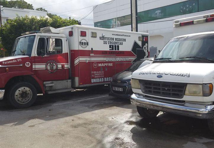 La inspección de las ambulancias es para que se cumpla la NOM-034. (Foto: Ivett Ycos)