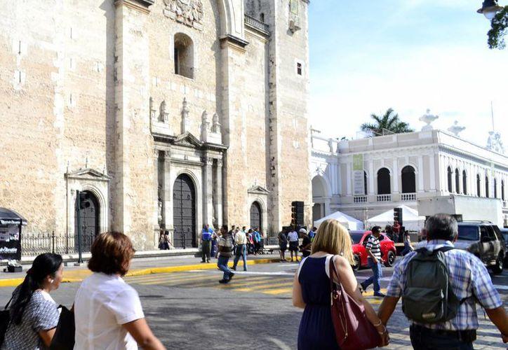 Mérida cuenta con iglesias de la época Colonial, que son un atractivo para los turistas. (Daniel Sandoval/Milenio Novedades)