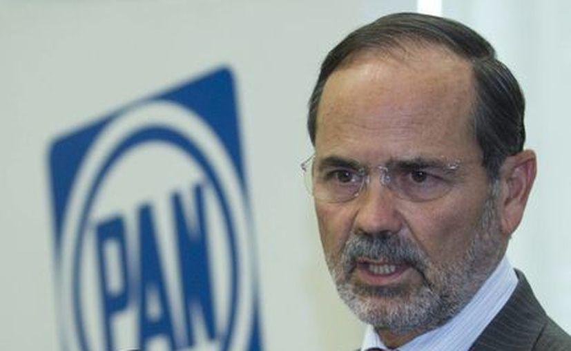 Gustavo Madero afirma que pedirá una licencia en el cargo para volver a postularse. (Notimex)