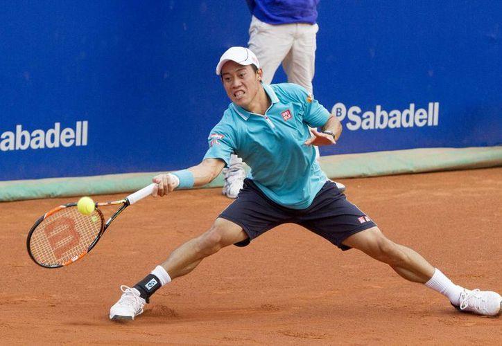 Kei Nishikori (foto) y otros de los mejores tenistas del mundo, como Marin Cilic y Grigor Dimitrov, competirán en el Abierto de Acapulco 2016 junto con el vigente campeón David Ferrer. (Notimex)