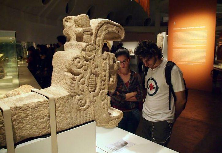 Brasileños disfrutaron de junio a agosto la muestra 'Mayas. Revelación de un tiempo sin fin'. (Notimex)