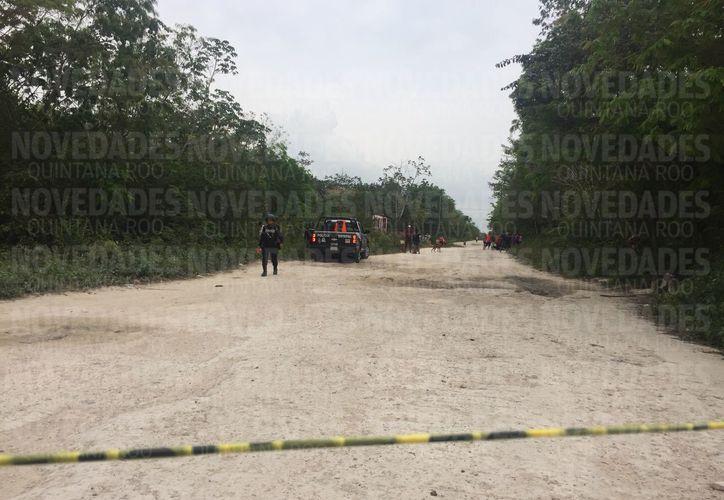 Un cuerpo sin vida fue encontrado en Tres Reyes. Foto: Eva Murillo