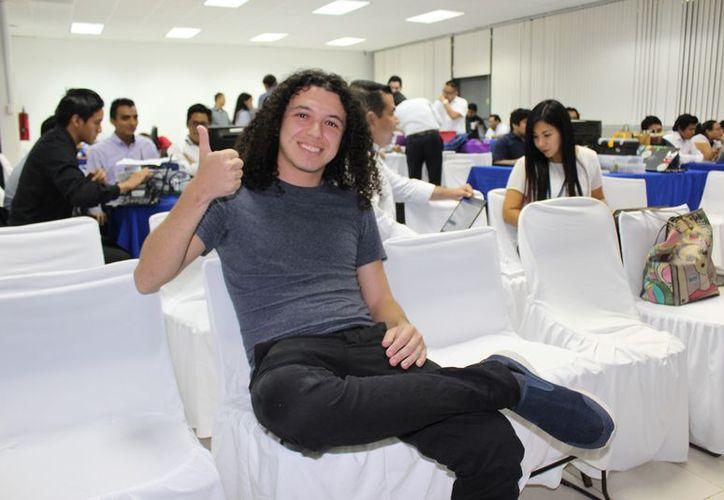 El joven Christian Sandoval que creó el negocio en el estado. (Adrián Barreto/SIPSE)
