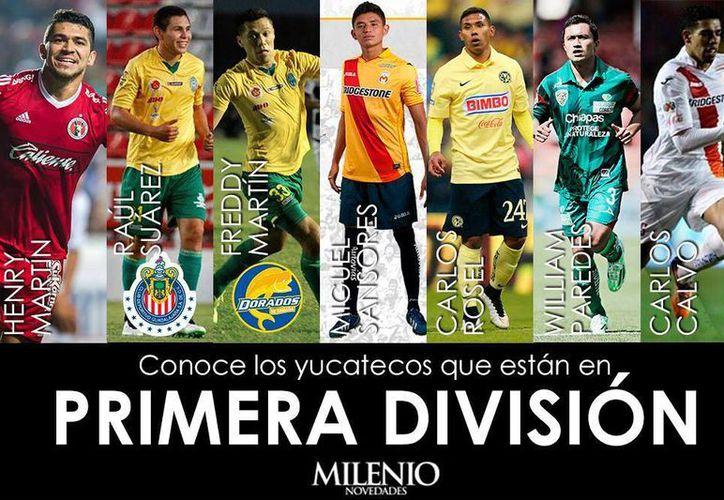 En Clausura 2016 será un torneo histórico para Yucatán: siete yucatecos jugarán en la Primera División Profesional. (Fotocomposición: Uziel Góngora)