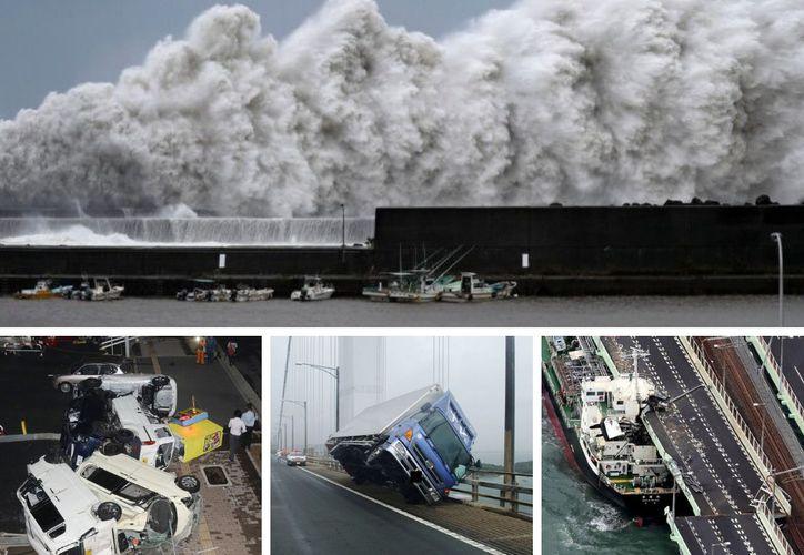 Aunque por ahora el número de víctimas parece bajo, el tifón ha provocado daños materiales impresionantes. (AFP)