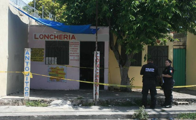 El asesinato ocurrió en el interior de una lonchería donde vivía Erick  G. V. Hay un sospechoso del asesinato. (Milenio Novedades)