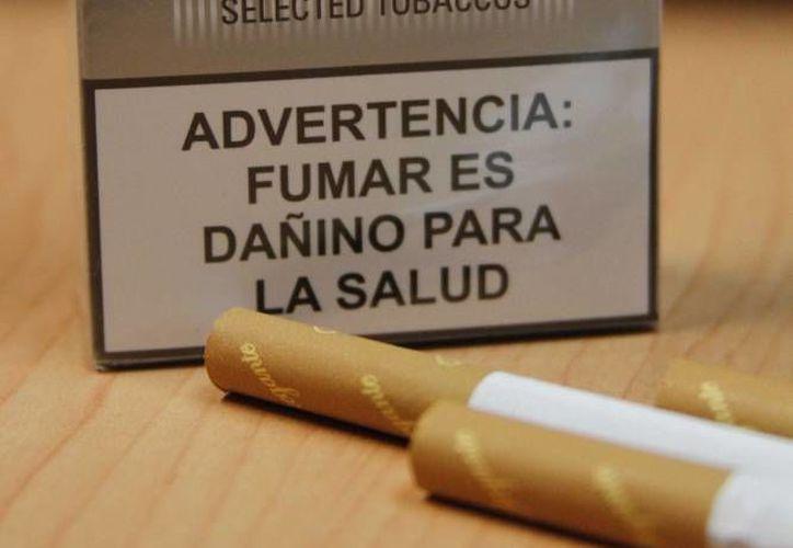 Se usaría la caja para colocar mensajes contra el tabaquismo. (Contexto/SIPSE)