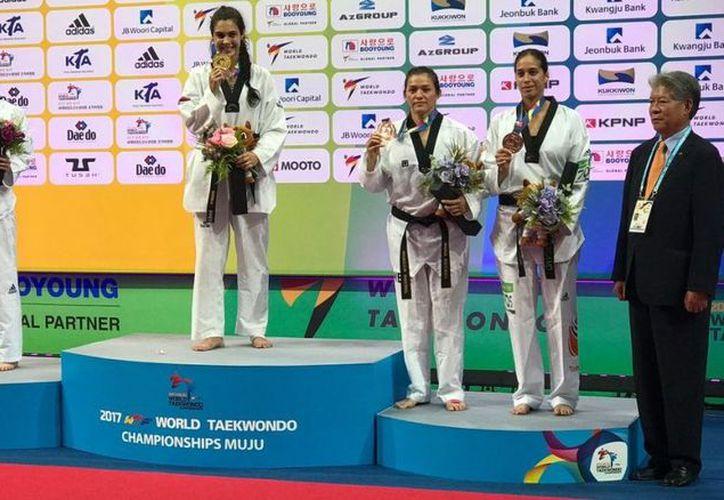 La mexicana no competía desde que logró la plata en los Juegos Olímpicos Río de Janeiro 2016. (@femextkdoficial).