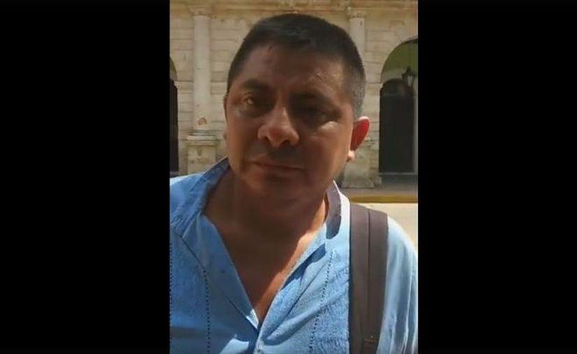 Empleado del gobierno del Estado, se quejó de una manera singular por la nula atención que según dice no le brinda el Instituto Mexicano del Seguro Social (IMSS). (Captura de video).