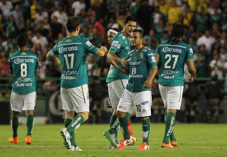 Aldo Rocha metió uno de los 2 goles con que León ganó 2-1 a Veracruz como visitante en el Futbol Mexicano. (info7.mx)